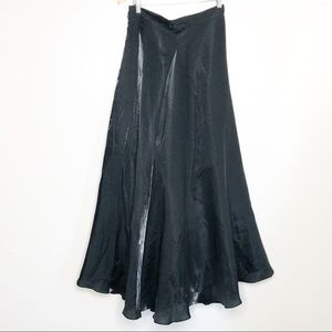 JS Collections Black Shimmer Formal maxi skirt